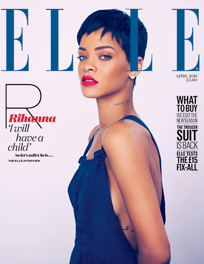 rihanna mariano vivanco elle4 Rihanna Stars in Elle UKs April Cover Shoot by Mariano Vivanco