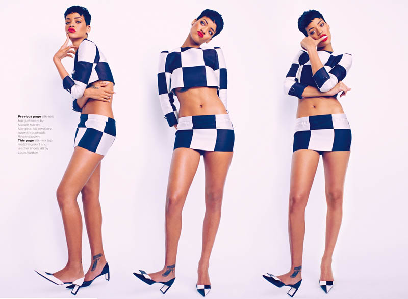 rihanna mariano vivanco elle6 Rihanna Stars in Elle UKs April Cover Shoot by Mariano Vivanco