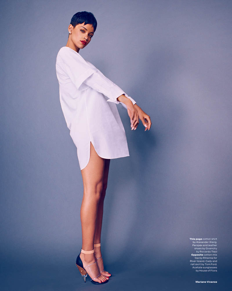 rihanna mariano vivanco elle7 Rihanna Stars in Elle UKs April Cover Shoot by Mariano Vivanco