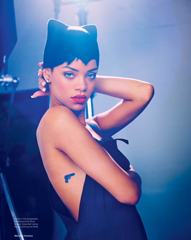 rihanna mariano vivanco elle9 Rihanna Stars in Elle UKs April Cover Shoot by Mariano Vivanco