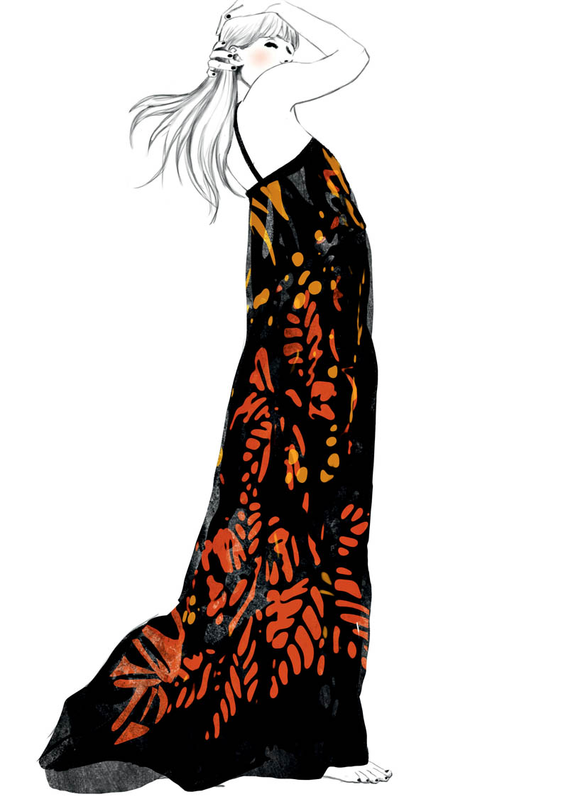 robe fleurs hr Sketches of Chloé Edition Anniversaire Collection