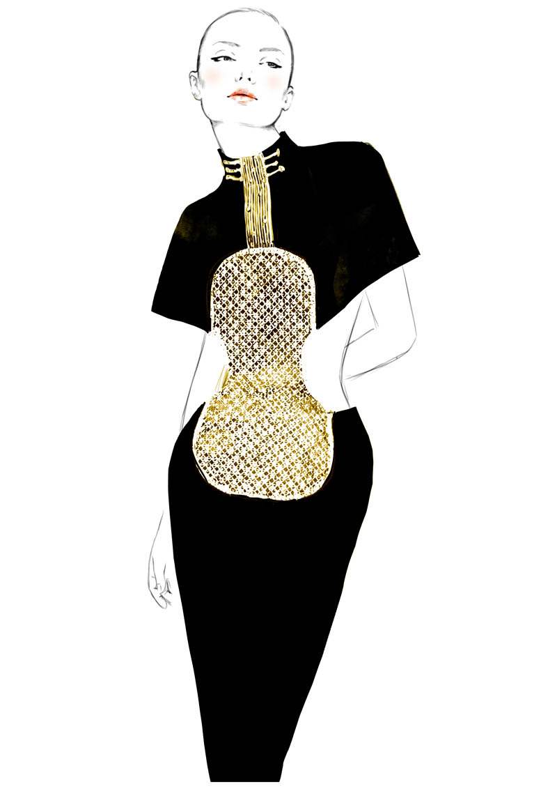 robeguitare hr Sketches of Chloé Edition Anniversaire Collection
