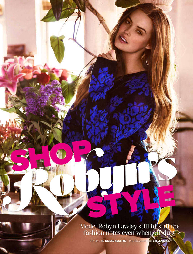 Robyn Lawley Shows Off Her Personal Style for Cosmopolitan Australia April 2013 by Steven Chee
