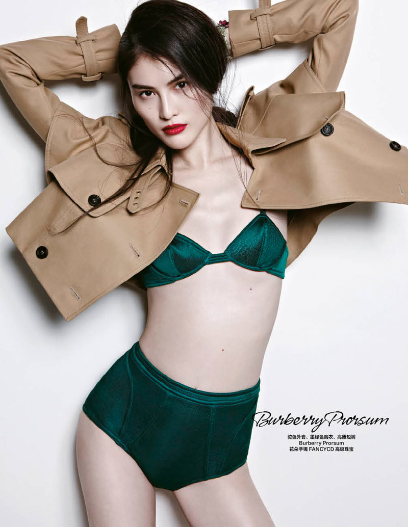 sui he bazaar china10 Sui He Models the Spring Collections for Harpers Bazaar Chinas March Cover shoot