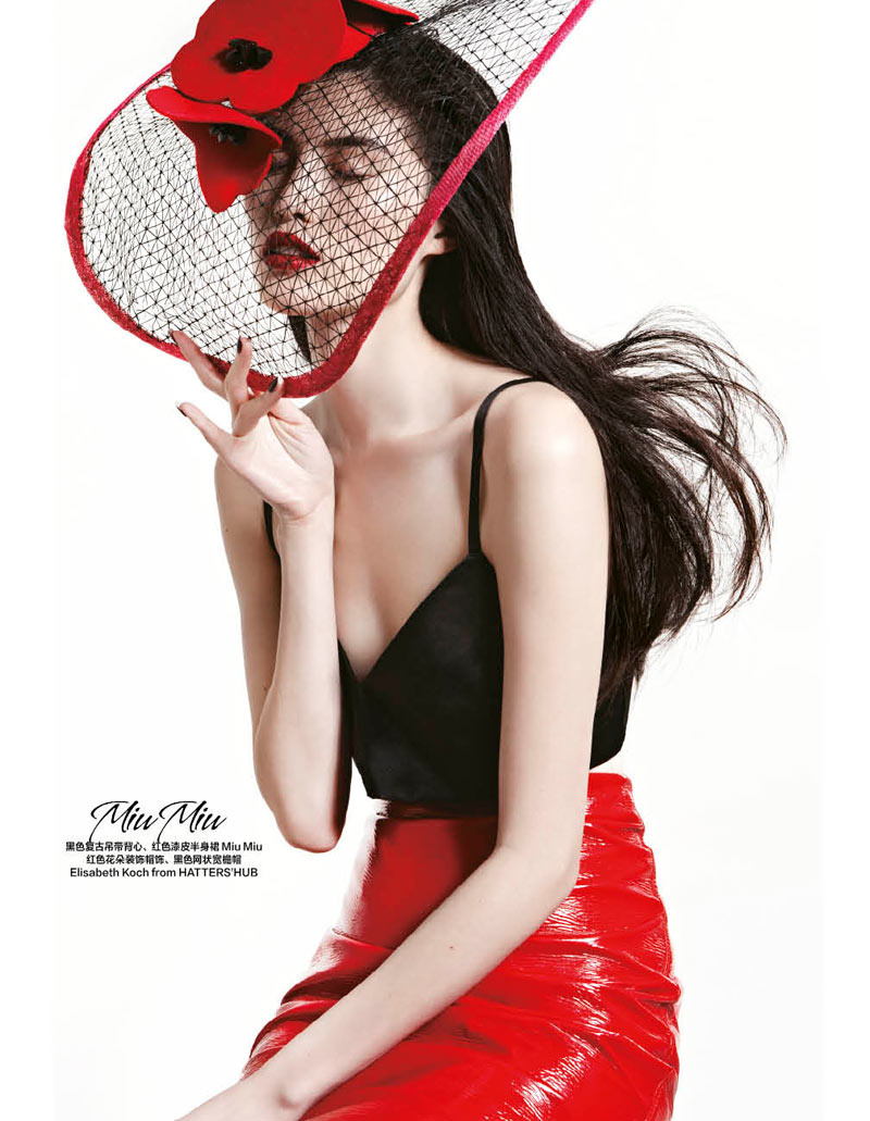 sui he bazaar china6 Sui He Models the Spring Collections for Harpers Bazaar Chinas March Cover shoot