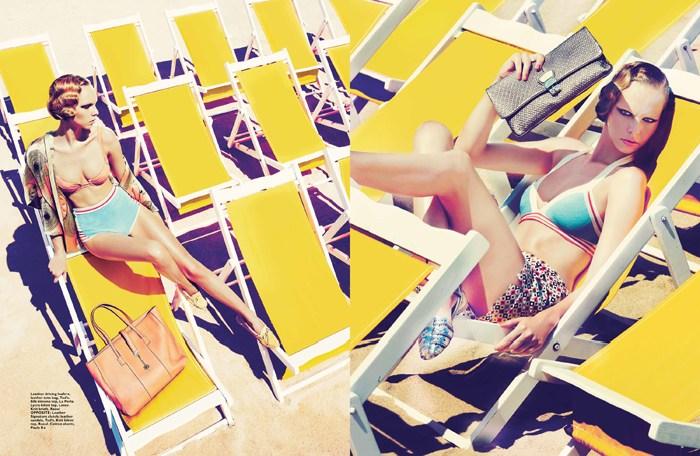 Veronika Gets Sunny for Gan in Harper's Bazaar Singapore March 2013