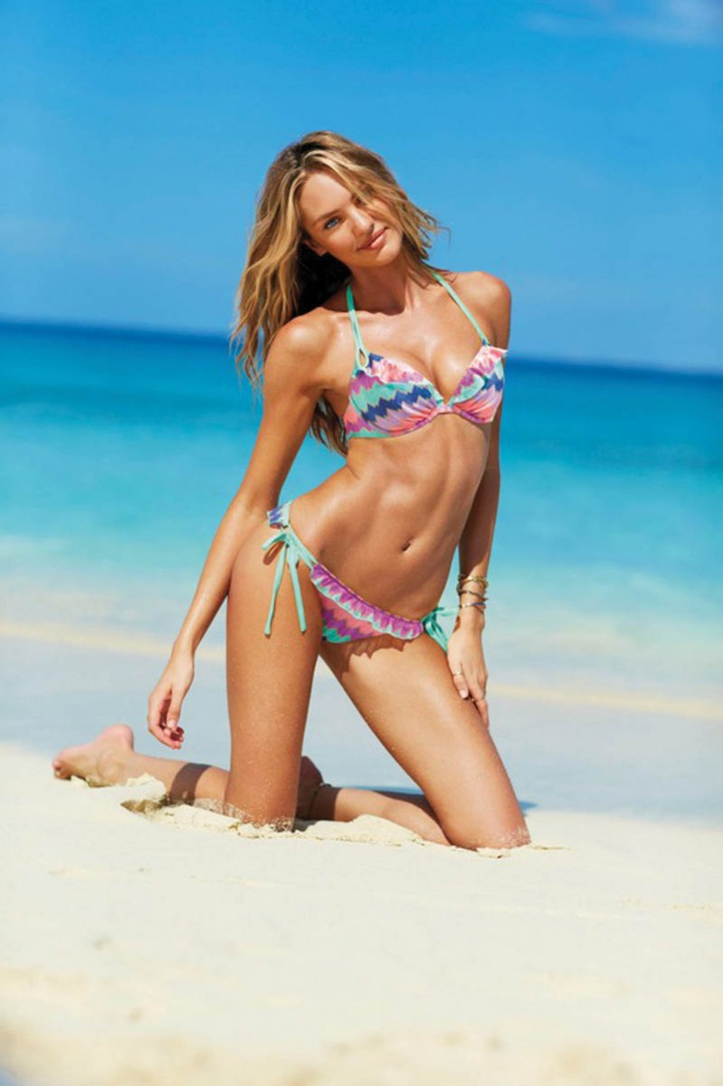 swim 2 2013 candice swanepoel gorgeous push up halter victorias secret hi res 799x1200 Karlie Kloss, Candice Swanepoel, Barbara Palvin, Magdalena Frackowiak and Others Star in Victorias Secret Swim 2013 Catalogue