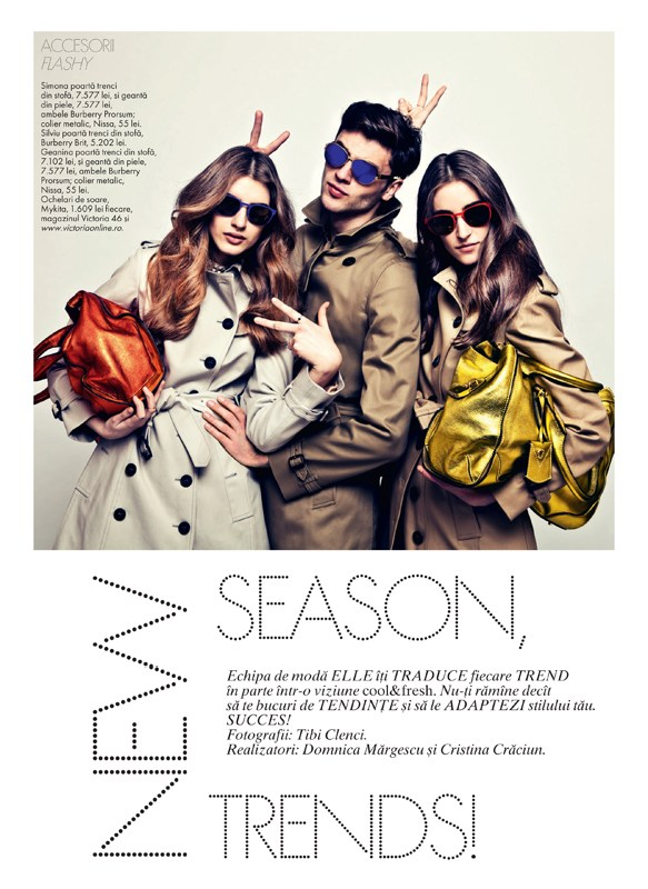 tibi clenci elle romania1 Elle Romania Features the Spring Trends in March Issue, Shot by Tibi Clenci