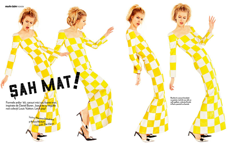 tibi clenci marie claire march 2013 2 Annemara Post Squares Up In Louis Vuitton for Marie Claire Romania by Tibi Clenci