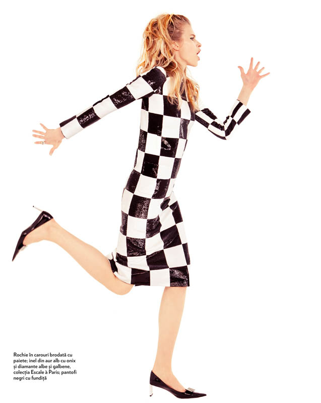 tibi clenci marie claire march 2013 3 Annemara Post Squares Up In Louis Vuitton for Marie Claire Romania by Tibi Clenci