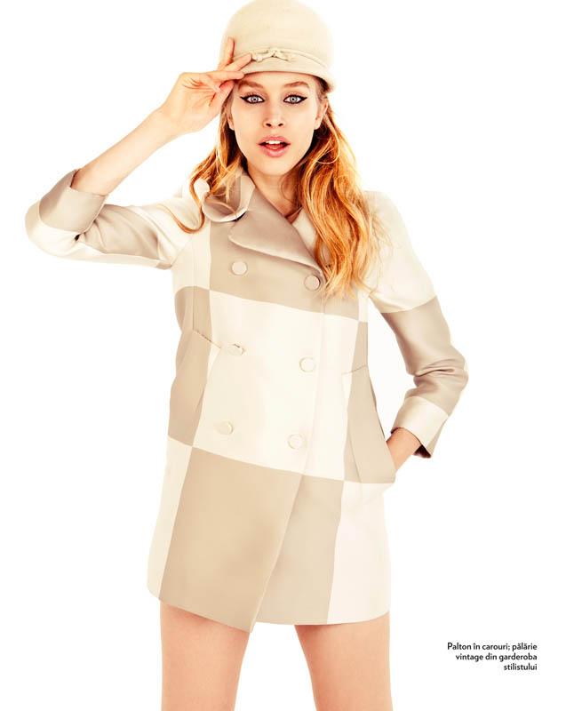tibi clenci marie claire march 2013 4 Annemara Post Squares Up In Louis Vuitton for Marie Claire Romania by Tibi Clenci