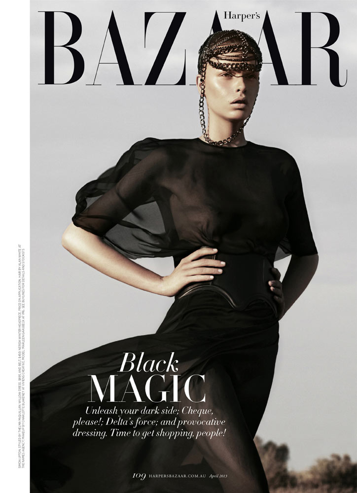 to the max1 Marleen Gaasbeek is a Desert Queen for Simon Upton in Harpers Bazaar Australia April 2013