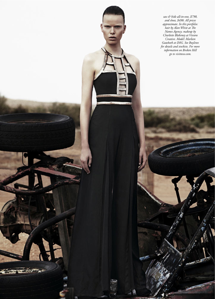 to the max4 Marleen Gaasbeek is a Desert Queen for Simon Upton in Harpers Bazaar Australia April 2013