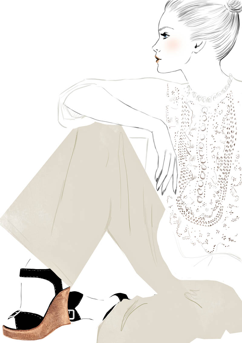 top+shoes color Sketches of Chloé Edition Anniversaire Collection