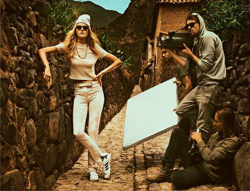 Valentina Zelyaeva Heads to Peru for Elle Mexico March 2013 by Alexander Neumann