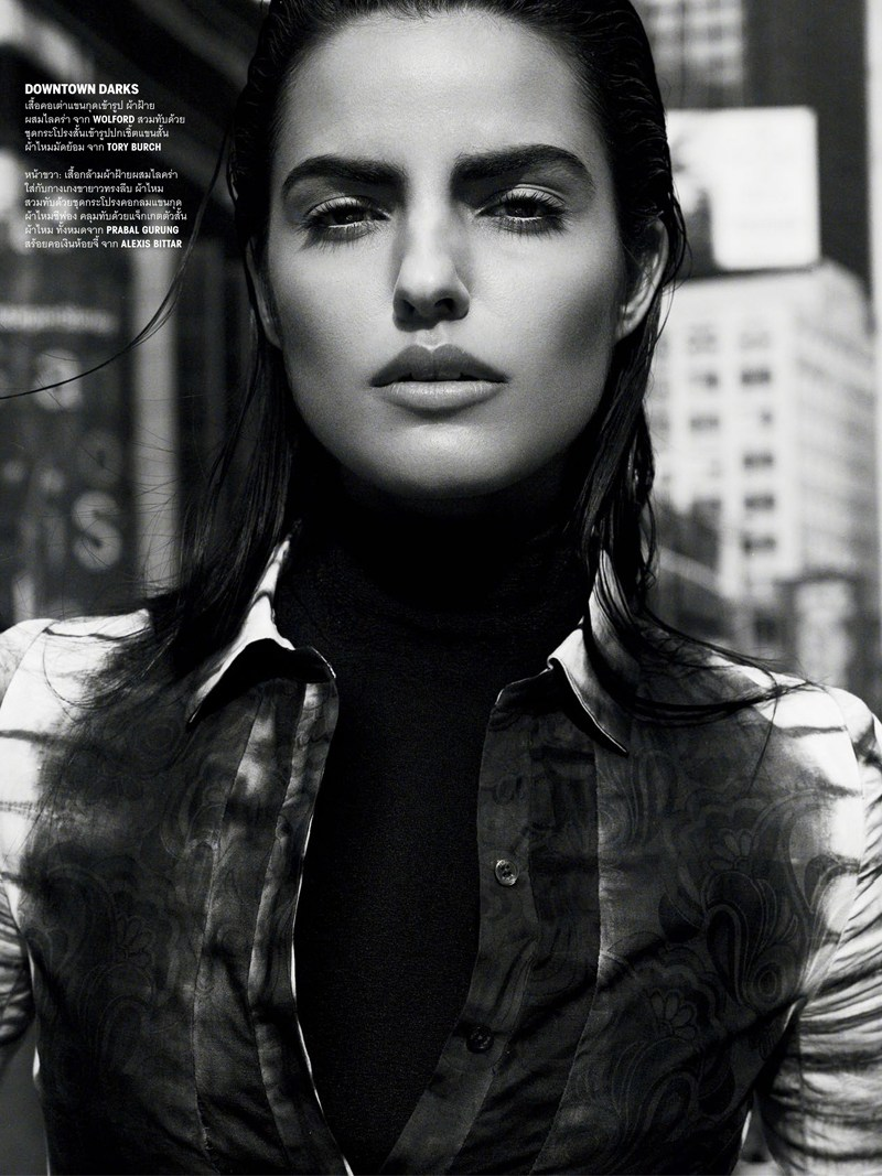 vogue thailand monotones2 Simon Cave Captures Liza Golden in the Big Apple for Vogue Thailand March 2013