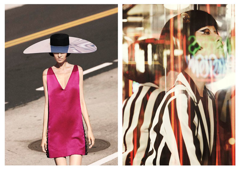 Wang Xiao Hits the Los Angeles Streets for Obsession Magazine by Julia Noni