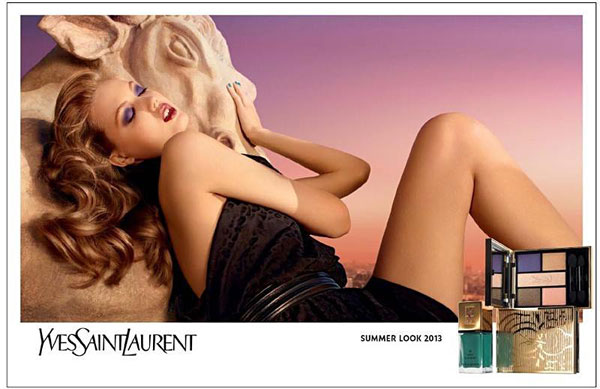 Lindsey Wixson Smolders in YSL Beauté Summer 2013 Campaign by Terry Richardson
