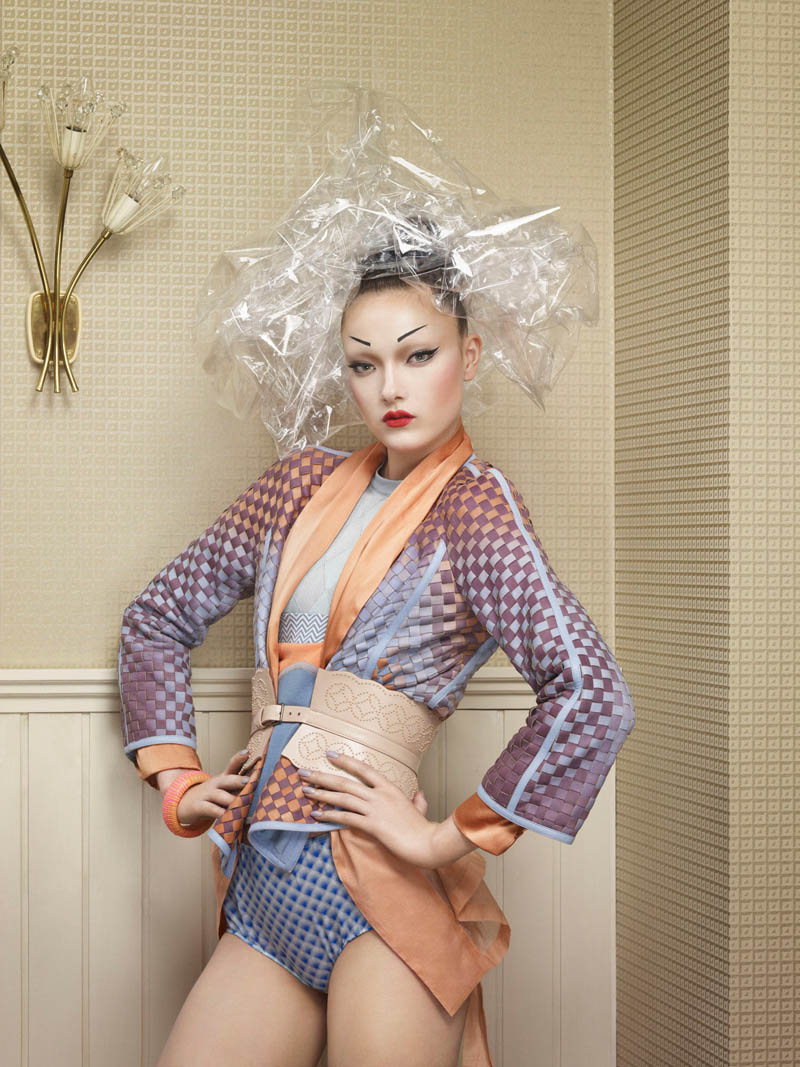 yumi jalouse geisha5 Yumi Lambert is a Pop Geisha for Jalouse March 2013 by Erwin Olaf