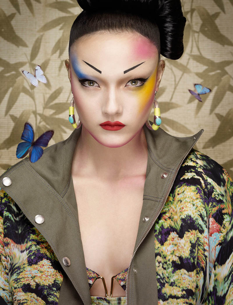 yumi jalouse geisha6 Yumi Lambert is a Pop Geisha for Jalouse March 2013 by Erwin Olaf