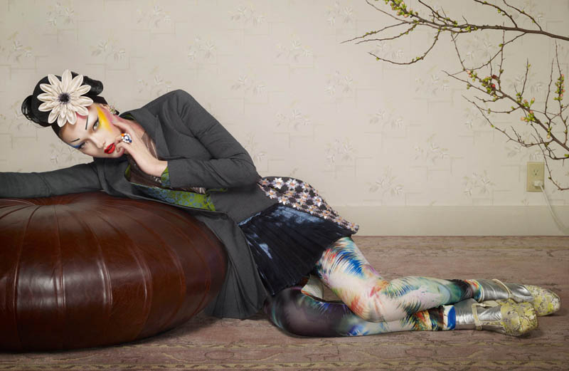 yumi jalouse geisha8 Yumi Lambert is a Pop Geisha for Jalouse March 2013 by Erwin Olaf
