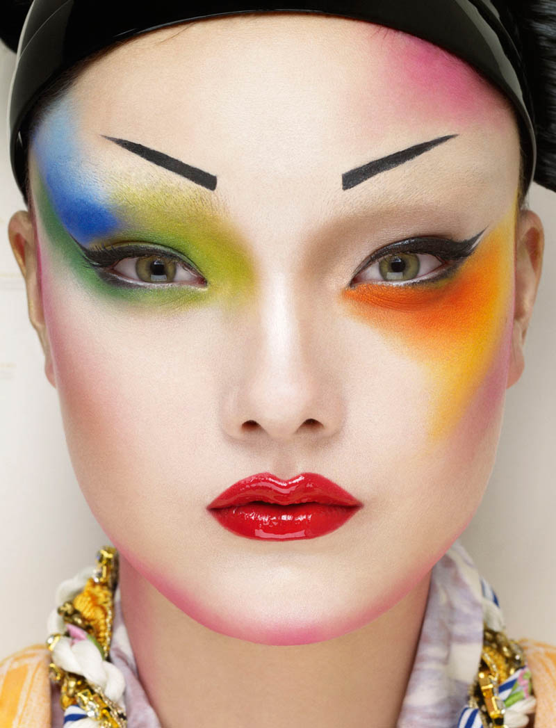 yumi jalouse geisha9 Yumi Lambert is a Pop Geisha for Jalouse March 2013 by Erwin Olaf