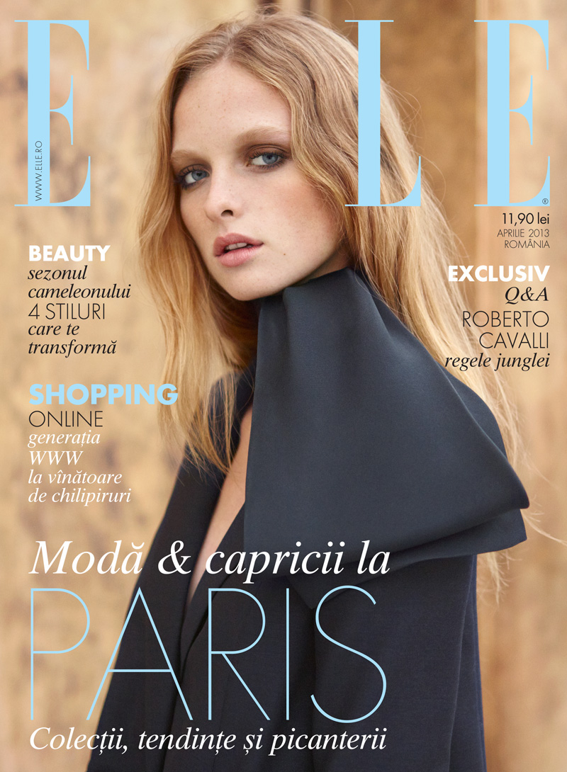 Asa Tallgard Shoots Eva Downey in Paris for Elle Romanias April 2013 Cover Shoot