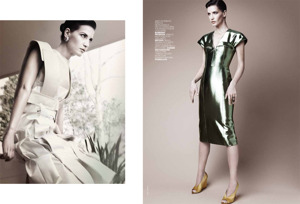 AL dianad 2 Diana Dondoe is Ladylike Svelte for Axel Lindahl in Maire Claire Italia May 2013