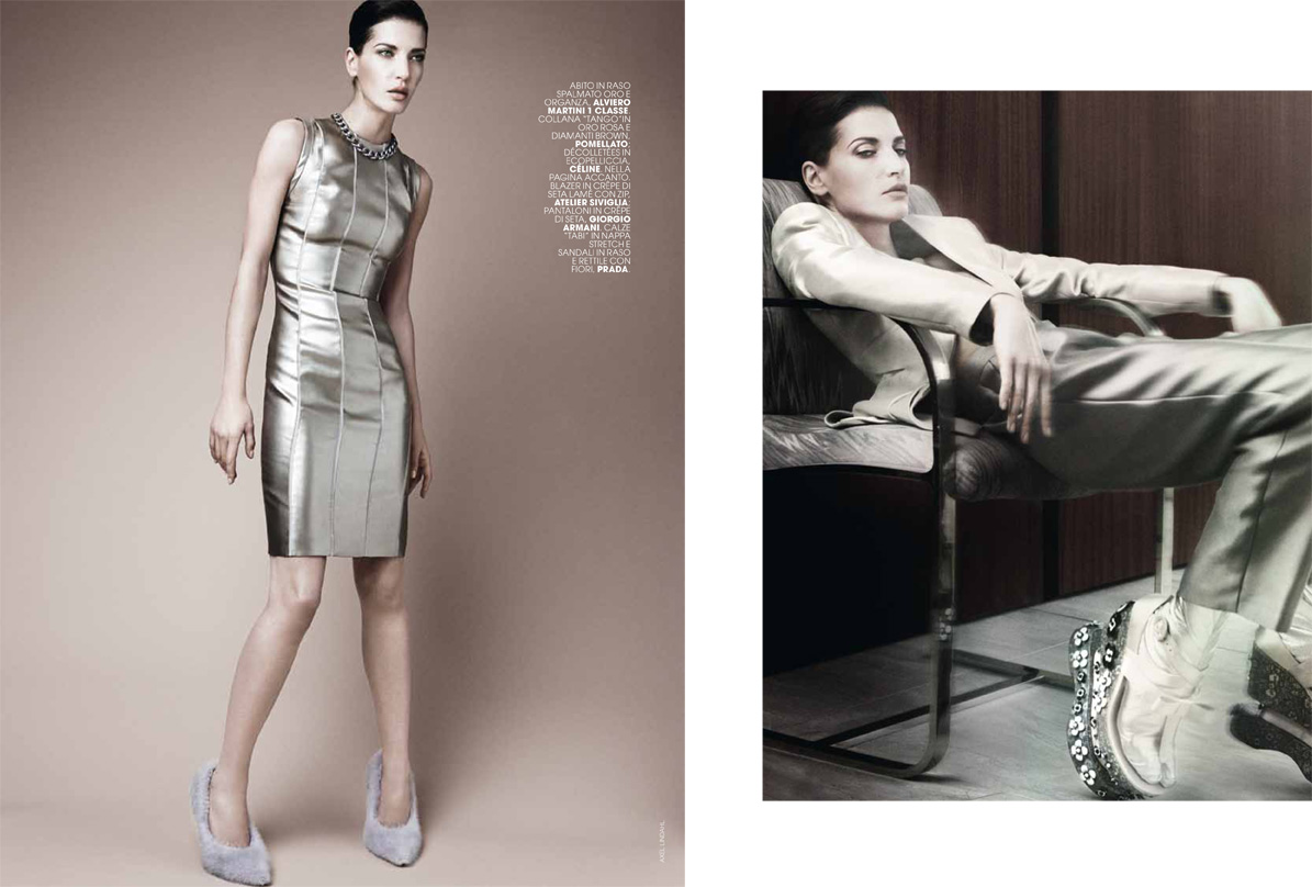 AL dianad 4 Diana Dondoe is Ladylike Svelte for Axel Lindahl in Maire Claire Italia May 2013