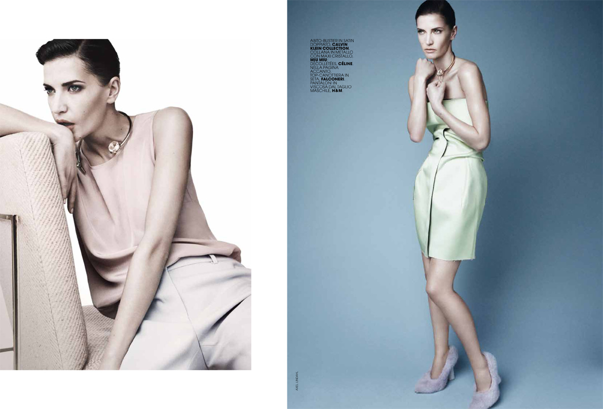 AL dianad 6 Diana Dondoe is Ladylike Svelte for Axel Lindahl in Maire Claire Italia May 2013