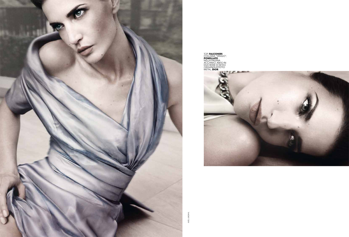 AL dianad 7 Diana Dondoe is Ladylike Svelte for Axel Lindahl in Maire Claire Italia May 2013