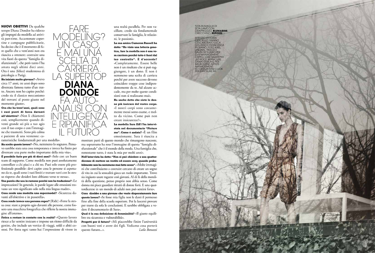 AL dianad 9 Diana Dondoe is Ladylike Svelte for Axel Lindahl in Maire Claire Italia May 2013