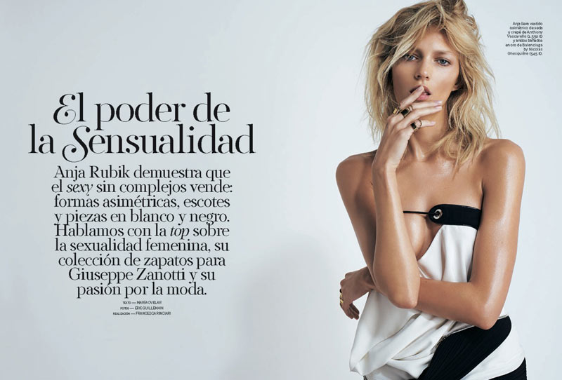 AnjaRubikSModa1 Anja Rubik is Sexy Cool for Eric Guillemain in S Modas April 2013 Cover Shoot