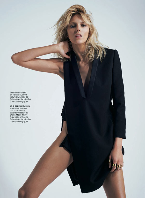 AnjaRubikSModa2 Anja Rubik is Sexy Cool for Eric Guillemain in S Modas April 2013 Cover Shoot