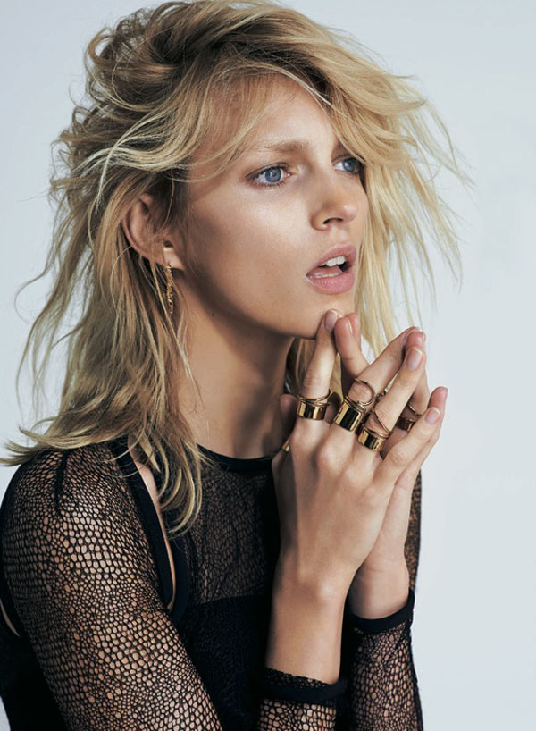 AnjaRubikSModa4 Anja Rubik is Sexy Cool for Eric Guillemain in S Modas April 2013 Cover Shoot