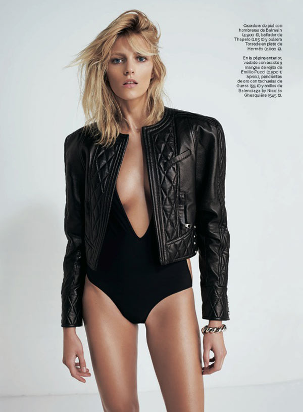 AnjaRubikSModa5 Anja Rubik is Sexy Cool for Eric Guillemain in S Modas April 2013 Cover Shoot