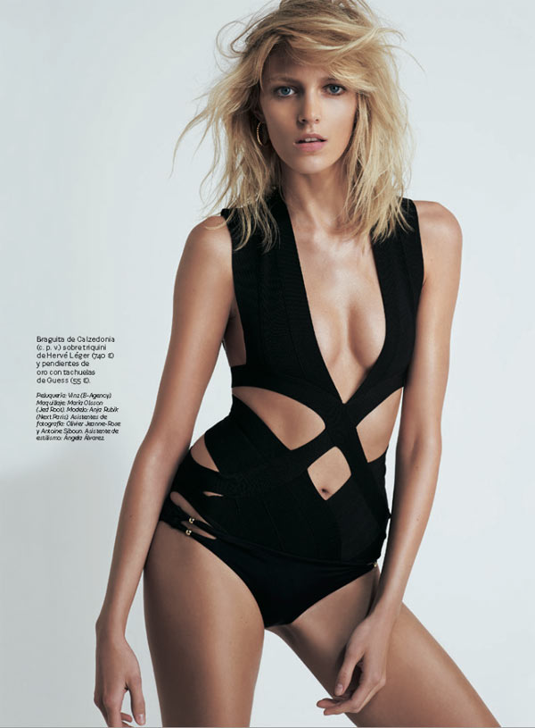 AnjaRubikSModa6 Anja Rubik is Sexy Cool for Eric Guillemain in S Modas April 2013 Cover Shoot