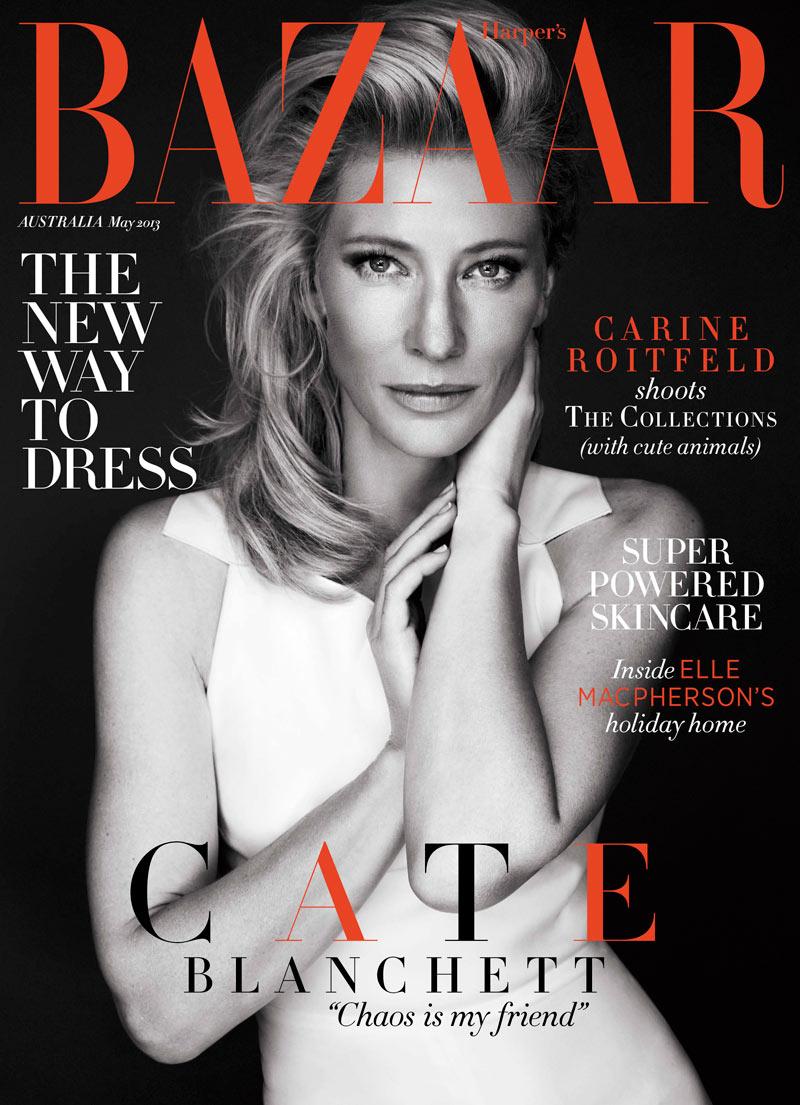 Bazaar Cate Blanchett Cate Blanchett Graces Harpers Bazaar Australia May 2013 Cover