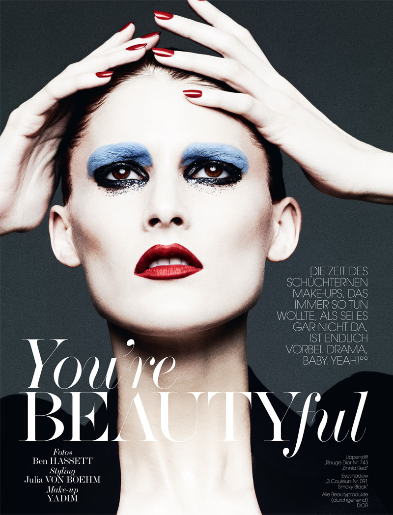 BenHassettInterview1 Marie Piovesan Poses for Ben Hassett in Interview Germanys May Issue