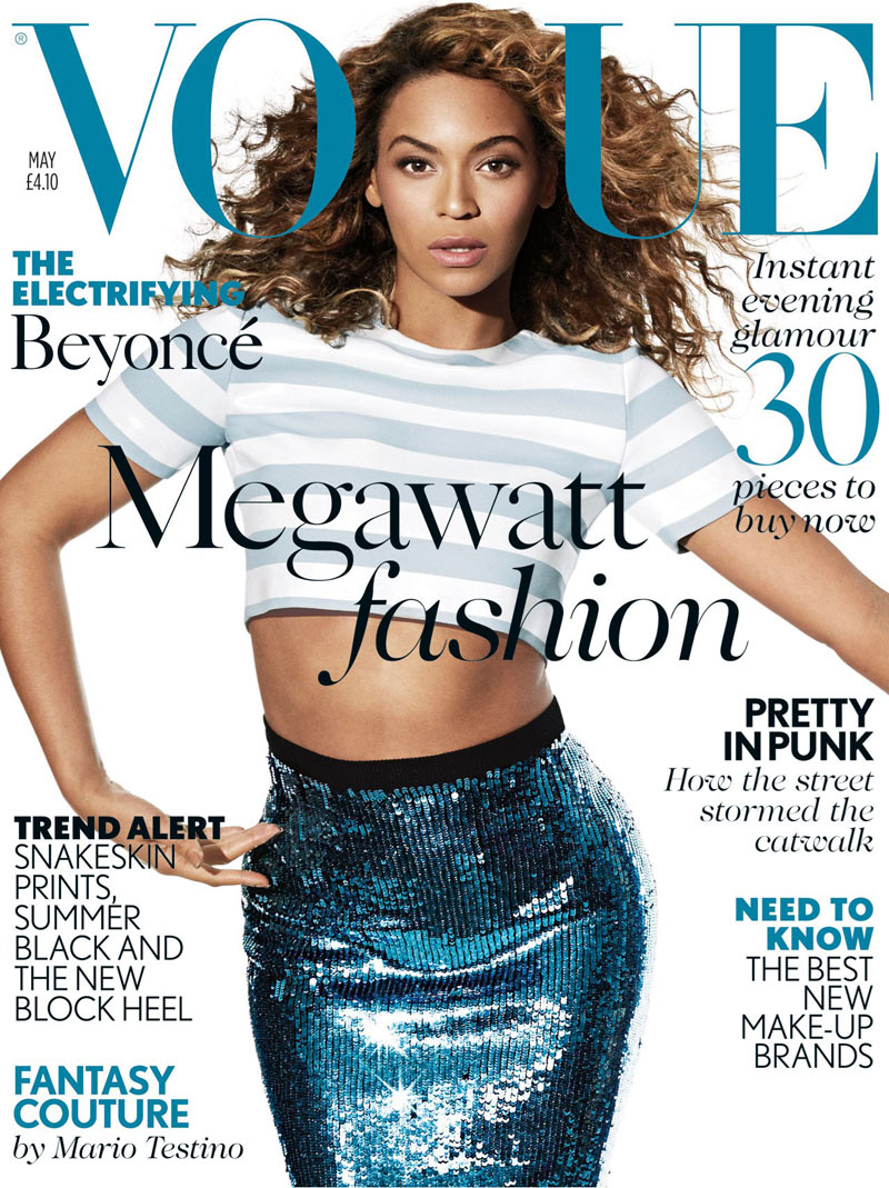 Beyonce May Vogue Cover Beyonce Shines for Vogue UKs May 2013 Cover