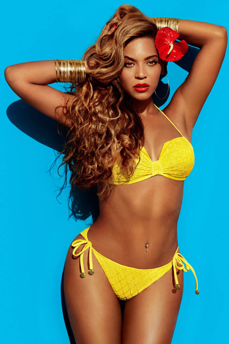 BeyonceHMSummer1 Beyonce Gets Tropical for H&Ms Summer 2013 Campaign