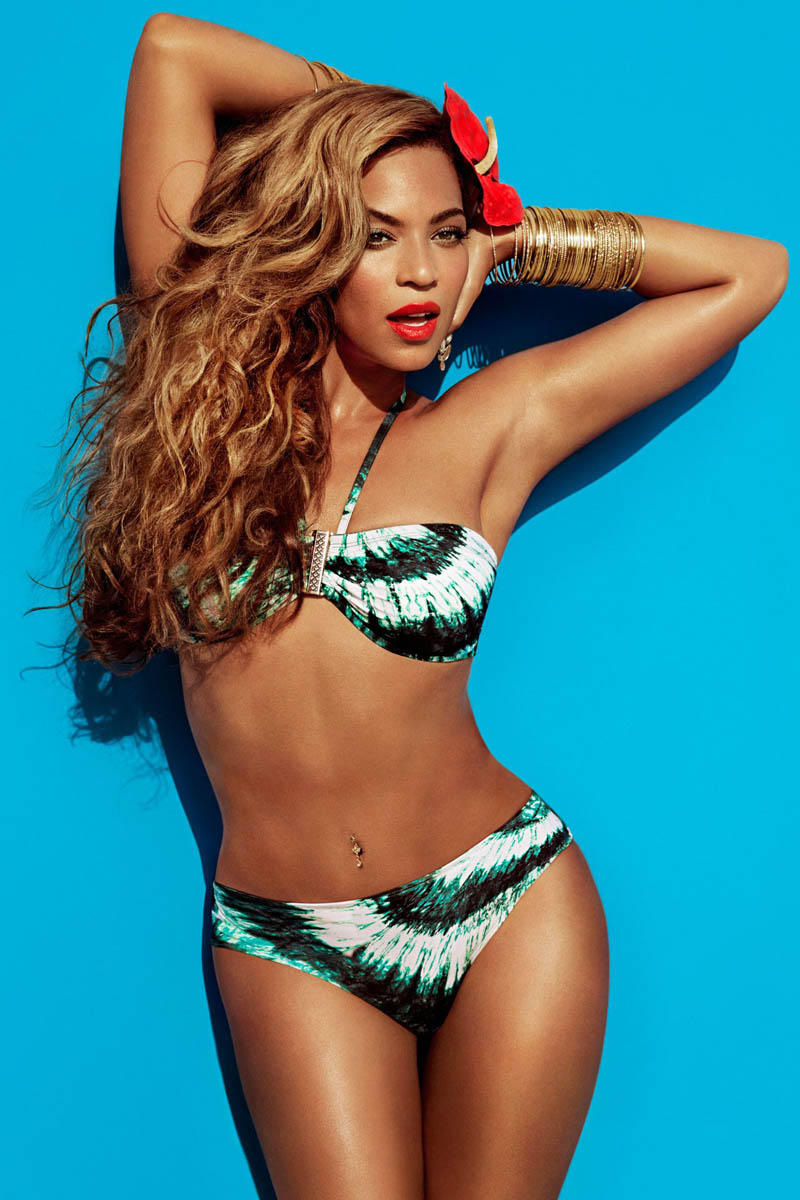 BeyonceHMSummer2 Beyonce Gets Tropical for H&Ms Summer 2013 Campaign