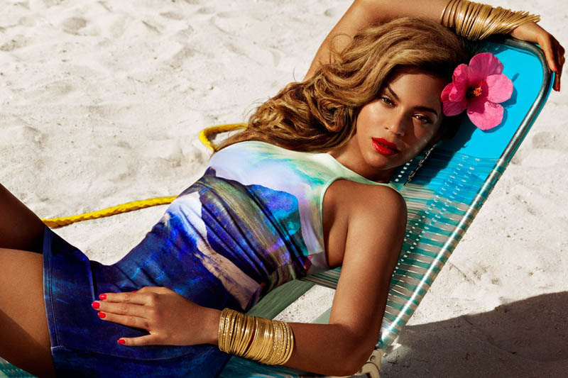 BeyonceHMSummer5 Beyonce Gets Tropical for H&Ms Summer 2013 Campaign