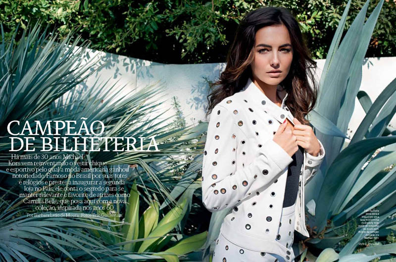 CamillaBelle1 Camilla Belle Wears Michael Kors for Vogue Brazil April 2013 by Eric Guillemain