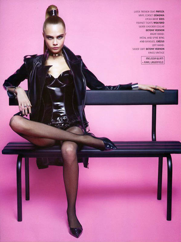 CaraMelissaKarlLagerfeld6 Cara Delevingne is A Shoe Vixen for Karl Lagerfeld In Melissa Magazine Winter 2013