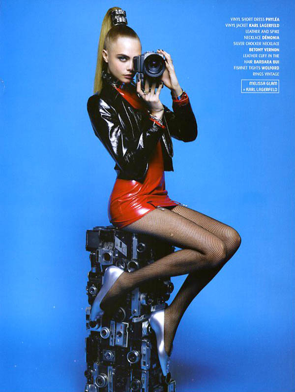 CaraMelissaKarlLagerfeld8 Cara Delevingne is A Shoe Vixen for Karl Lagerfeld In Melissa Magazine Winter 2013