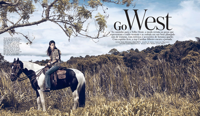 CarolineInStyle1 Caroline Ribeiro Hits the Trails for InStyle Brazil April 2013 by Yossi Michaeli