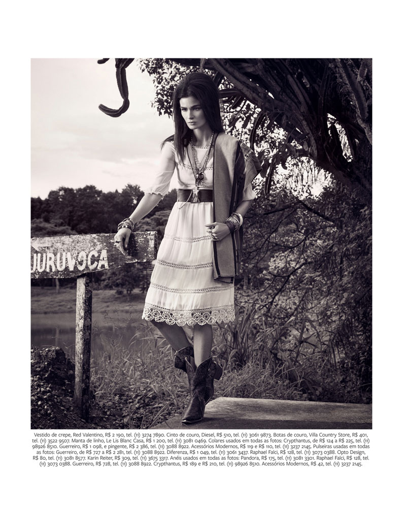 CarolineInStyle3 Caroline Ribeiro Hits the Trails for InStyle Brazil April 2013 by Yossi Michaeli