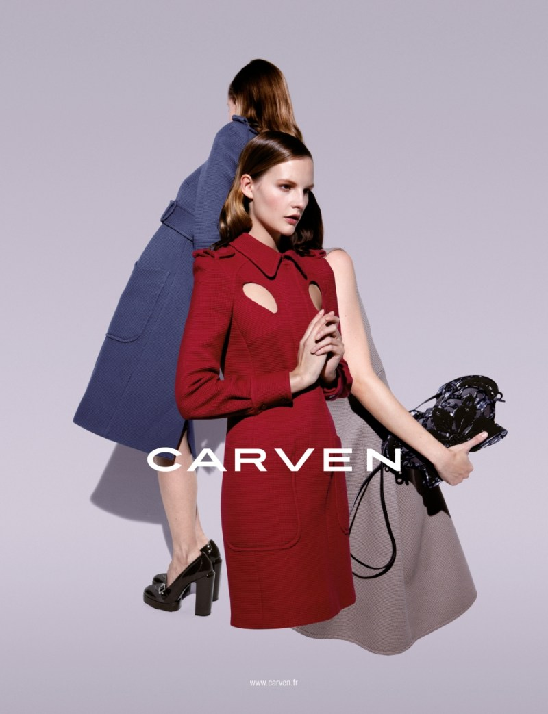 CarvenSpringCampaign1 Sara Blomqvist Shows Two Sides for Carvens Spring 2013 Campaign by Viviane Sassen