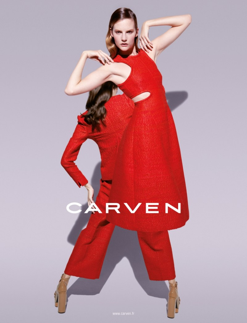 CarvenSpringCampaign2 Sara Blomqvist Shows Two Sides for Carvens Spring 2013 Campaign by Viviane Sassen